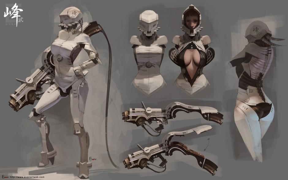 性感天使身躯蕴含科幻气息