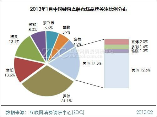 2013年1月中国键鼠套装市场分析报告