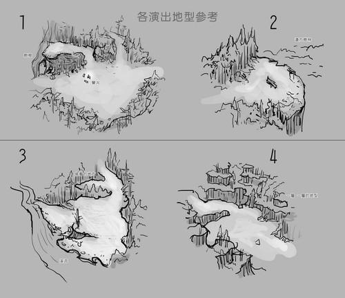 触发剧情点地形设计图