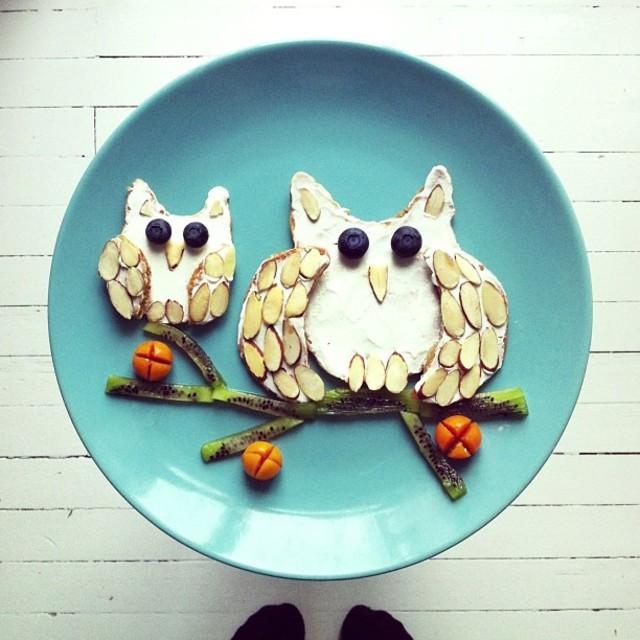 instagram的视觉盛宴 可爱的早餐拼盘