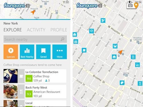 新增锁屏通知 WP版Foursquare更新至3.0