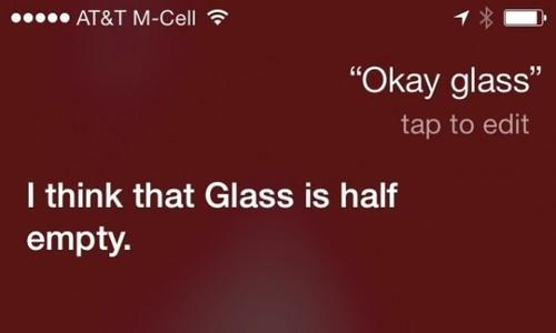 """对Siri说""""Okay,Glass""""的6种风趣回答"""
