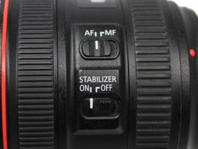 佳能EF 24-70mm f/4L IS USM设置按键