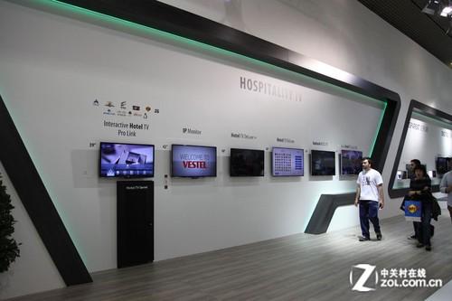 84英寸4K电视 欧洲最大电器VESTEL展台