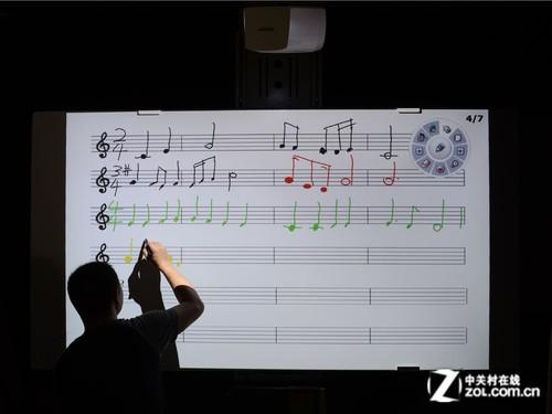 随音乐老师谱曲 丽讯D755WTi视频鉴赏