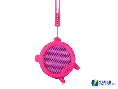 摩米士piggy小猪蓝牙音箱的正面是大面积的音箱防尘金属罩,这里是