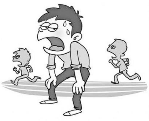 关于跑步的简笔画