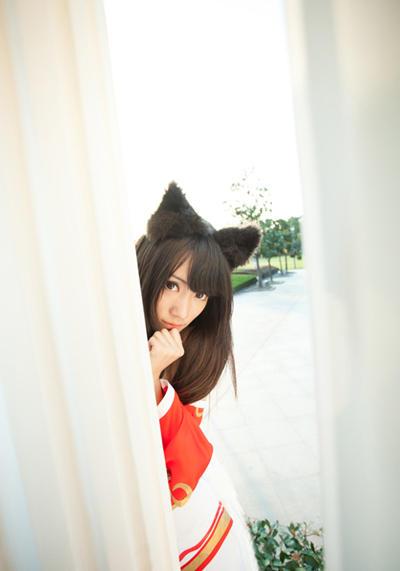 lol cos/挡不住的魅惑LOL九尾妖狐阿狸妖孽COS(8/8)