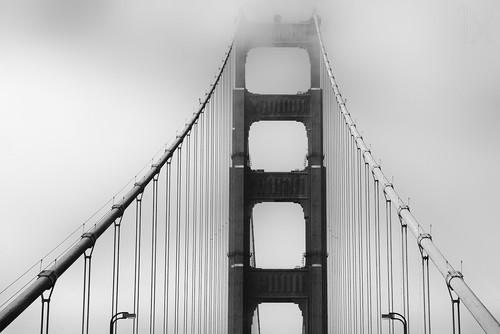 桥梁黑白手绘图