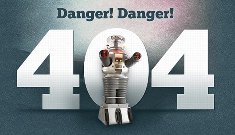 精彩的错误 404错误页面创意设计图赏_平板电脑新闻