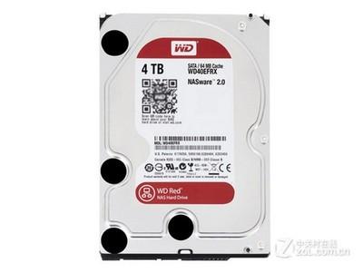 西部数据 4TB 7200转 64MB 红盘(WD40EFRX)