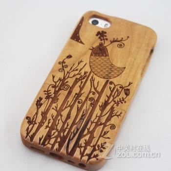 稀奇艾玛手机原木 木质雕刻 手机壳 适用于苹果iphone 6 苹果iphon