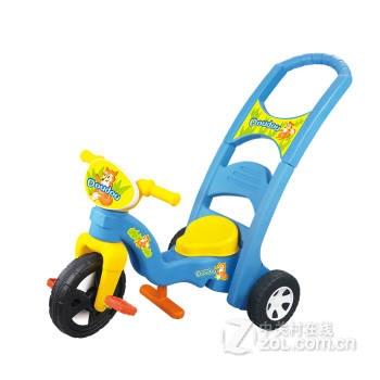 三用儿童摇摇椅+儿童推车+脚踏车不带音乐蓝