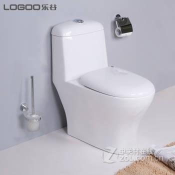 【乐谷卫浴降噪节水型马桶lg-e80304喷射虹吸式冲水