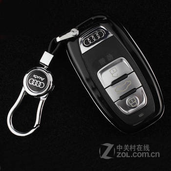 a4l/a5/q5/a7/a8l汽车钥匙壳专用改装钥匙套/扣/壳 钢琴黑壳 扣 奥迪