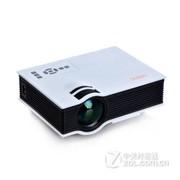 优丽可(UNIC)新款UC40家用LED微型投影仪连电脑U盘高清迷你便手机投影 白色+100吋简易幕布(送高清线) 套餐三