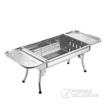 家用碳烧烤架户外便携不锈钢烧烤炉子加厚折叠野外木炭烤箱 套餐六