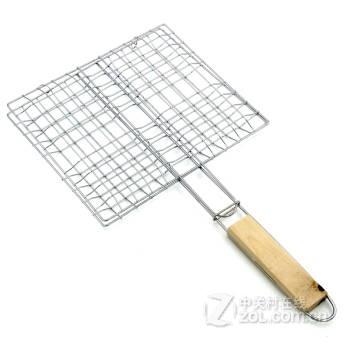 烤板烤夹 烤鱼夹 四汉堡烤夹子 烧烤工具配件用品