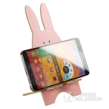 哈马 时尚创意可爱越狱兔手机支架 平板电脑支架 木质手机支架 懒人支