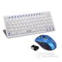 甲乙丙X10键盘鼠标套装笔记本台式电脑游戏无线鼠标键盘套装超薄键鼠套装特价静音无声键鼠 蓝色鼠标+白色键�