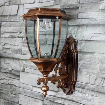 复古led太阳能户外防水庭院景观花园别墅围墙门柱灯
