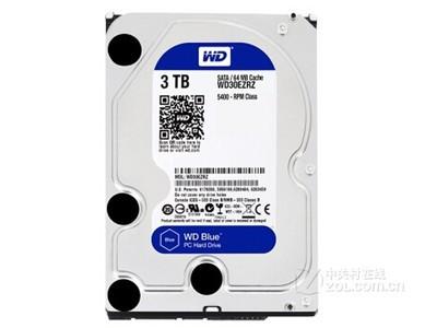 西部数据 蓝盘3TB SATA6Gb/s 64M(WD30EZRZ)