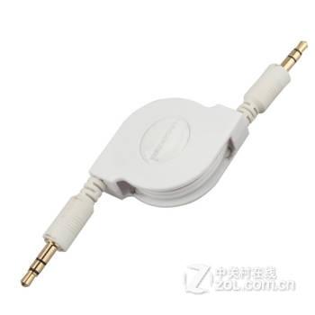 5mm公对公数据线音频 标准版白色80cm