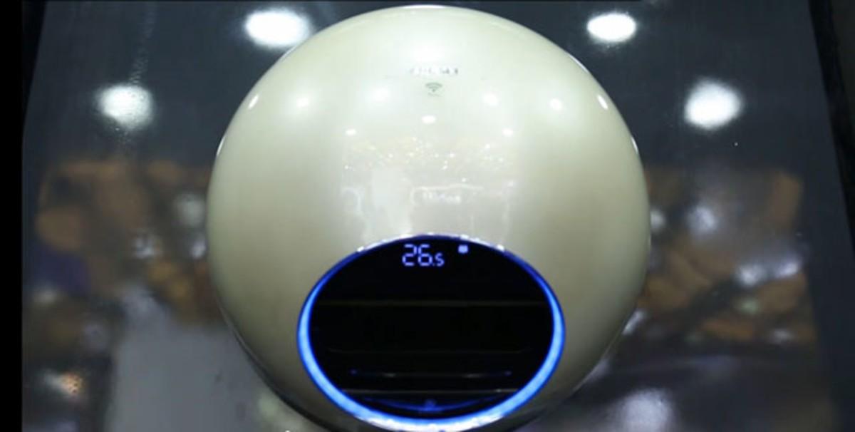 【高清图】圆形空调你见过吗?美的智能网王iq100体验