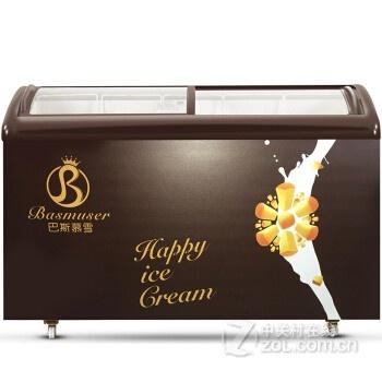 卧式冷冻冰柜 商用冷藏展示冰柜 雪糕速冻小冰柜 sc/sd-328y【巴斯