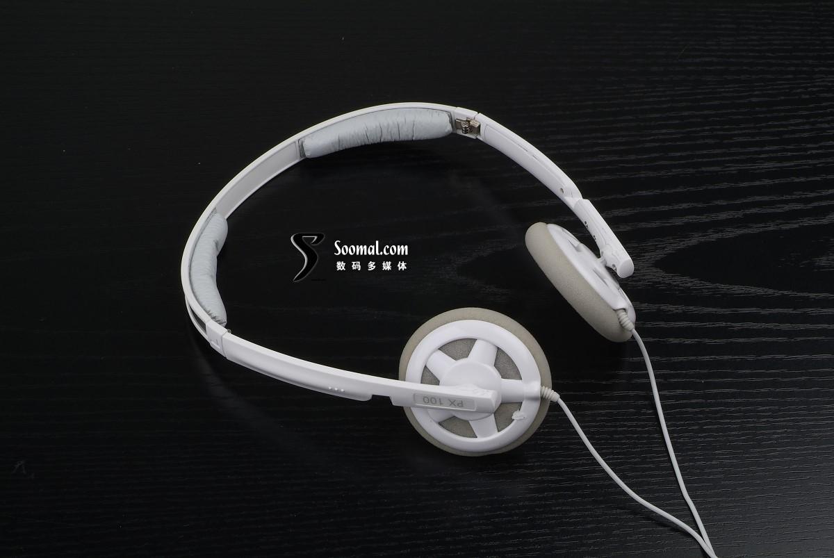【高清图】 森海塞尔px100 白色版立体声耳机细观图2