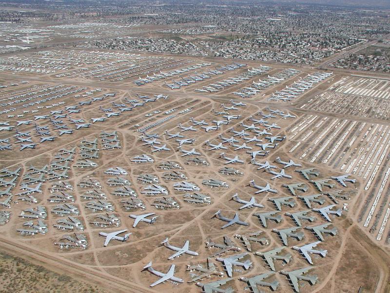 【高清图】GoogleEarth看地球 美国壮观飞机坟