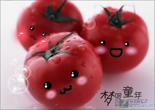 可爱的表情一下让水果具有了生命力