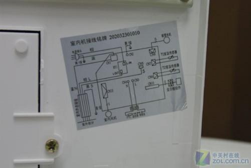 美的kfr-35gw/bp3dy-f(3)内盖内侧电路图