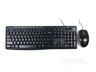 保3年 Logitech/罗技MK200 有线键盘鼠标套装 电脑多媒体键鼠套装