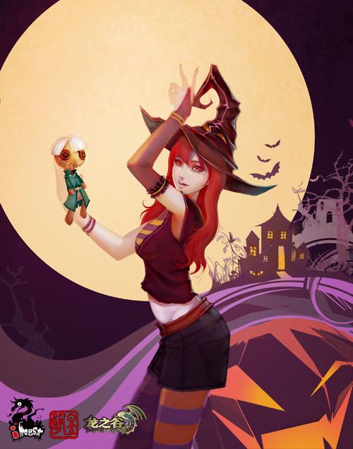南瓜灯与女巫帽 龙之谷万圣节同人赏