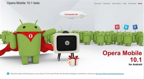 Opera 10.1 Beta for Android 终降临