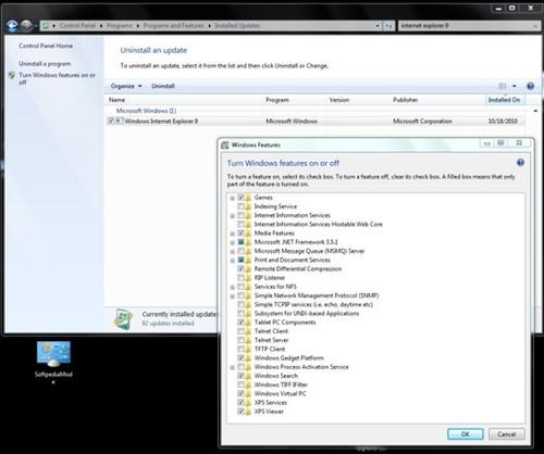 windows7系统设置缺失ie9功能关闭选项