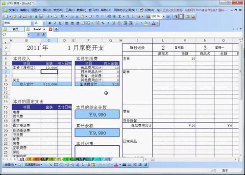 表格设计成账本样式