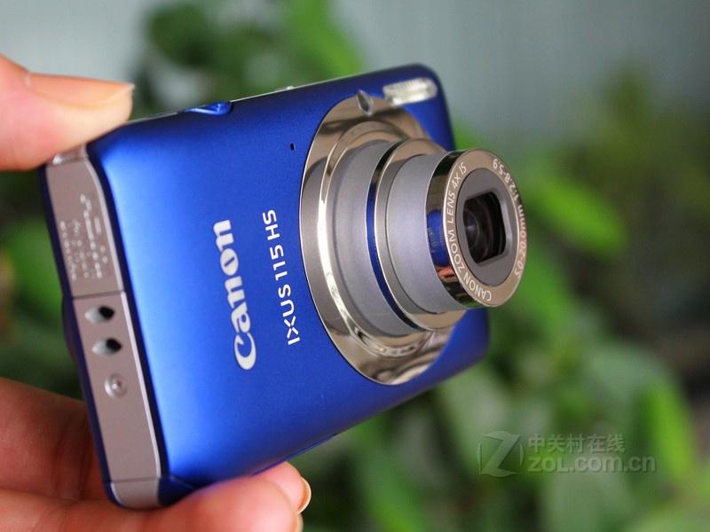 佳能 ixus115蓝色 正面图   佳能ixus 115 hs拥有全金属机高清图片