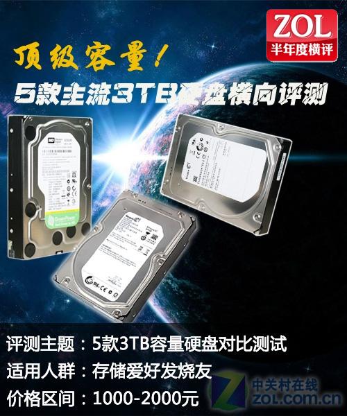 新容量时代 5款主流3TB硬盘横向评测