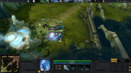 《DOTA2》首场比赛开始 游戏实际画面曝光
