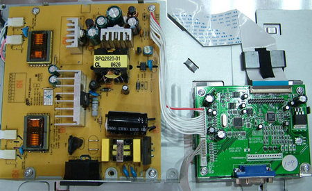 内的电路板,与飞利浦170c6真货的电路板相比,这个设计竟更合理!