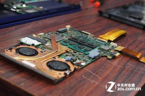 索尼超轻薄笔记本VAIO Z系列深度拆解-散热风