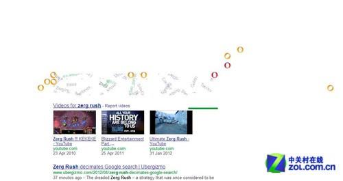 """在Google输""""Zerg Rush""""引发字符大暴动"""