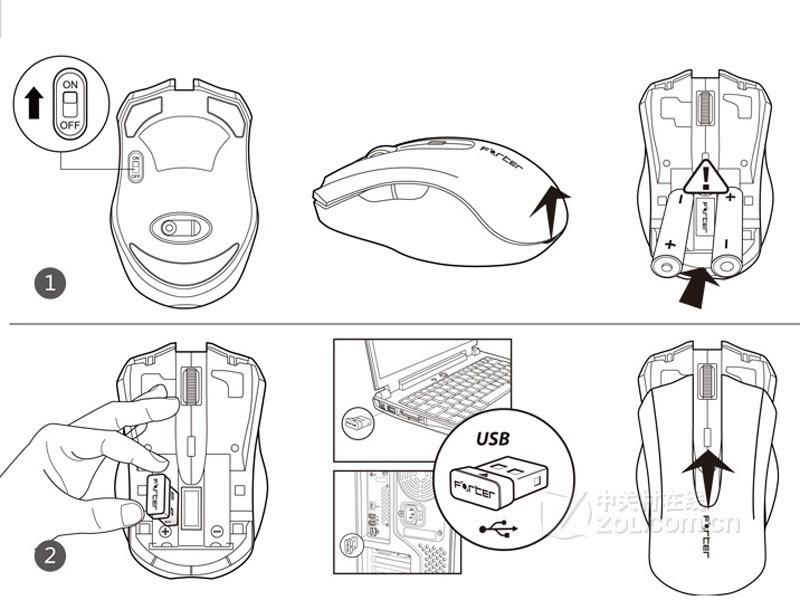 【高清图】富德(forter)V700无线鼠标实拍图 图7-ZOL中关村在线