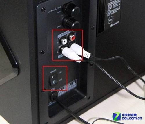 如果要连接电脑,而你的台式机没有蓝牙模块,可以通过音频信号输入线图片