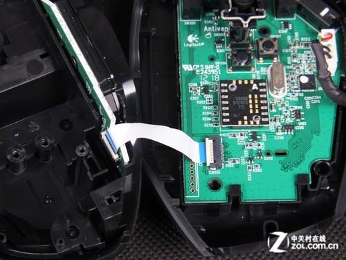 罗技G600网络游戏鼠标上盖与主板之间采用软排线连接 -内置配重 多年