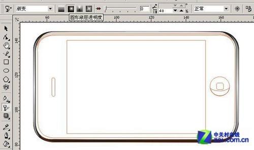 CorelDRAW教程 教你画苹果iPhone手机