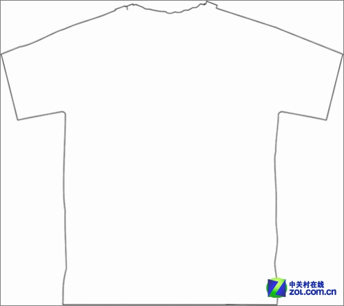 coreldraw教程:画出t恤线稿