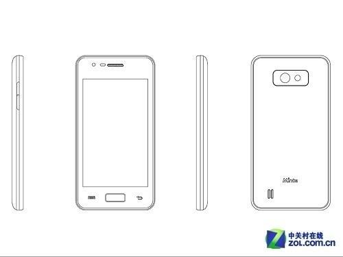 4.0吋安卓4.0+500万 黑白明泰N909曝光